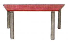 Стол трапециевидный, на металлокаркасе не регулируемый