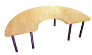 Стол полусолнце, на металлокаркасе не регулируемый