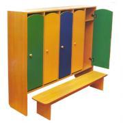 Шкаф в раздевалку комбинированный с лавкой