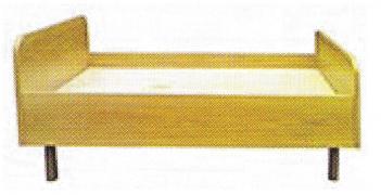 Кровать детская ЛДСП на металлокаркасе