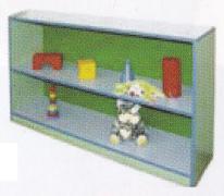Стеллаж для игрушек с полкой