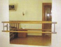 Стенка хореографическая с зеркалами и поручнем