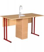 Стол лабораторный для кабинета химии с сантехникой