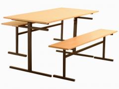 Стол обеденный 6-ти местный со скамейками