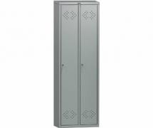 Шкаф для раздевания 2-х секционный металлический